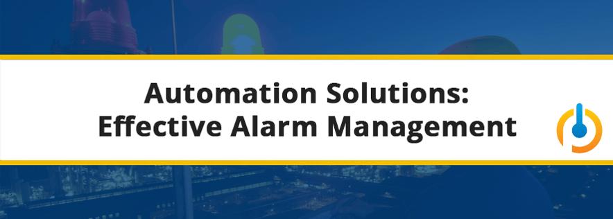 Automation Solutions Alarm Management